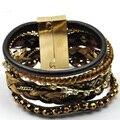 2015 new hand-woven Beaded Bracelet multi-bohemian braided bracelet