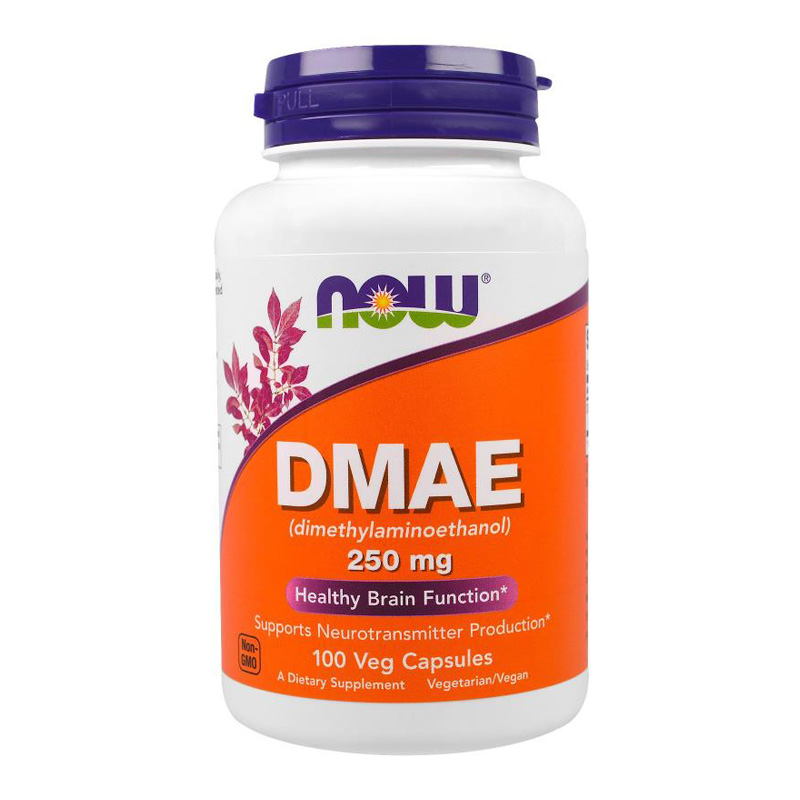 Now DMAE 250 Mg Supports Neurotransmitter Production 100 Pcs