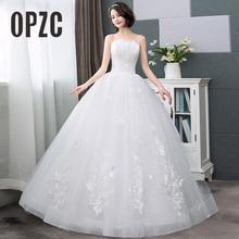Real Photo Hot Sale Korean Lace Up Ball Gown Cheap Wedding Dresses 2020 New Fashion Claasic Custom Plus Size Elegan Bridal Dress