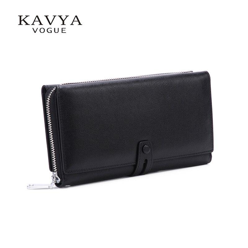 KAVYAVOGUE Designer yang sangat baik Kulit tulen Lelaki Clutch beg - Dompet