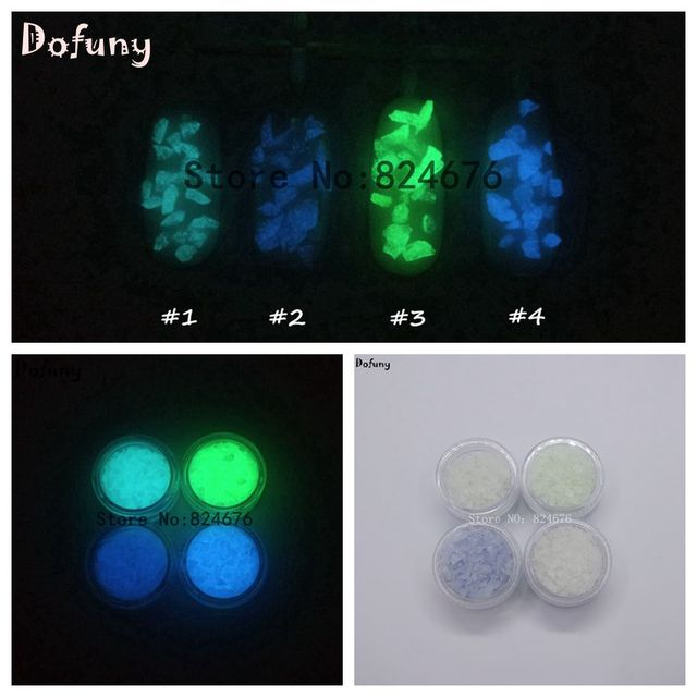4 colors luminous spall sand stone nail art glow in the dark 4 colors luminous spall sand stone nail art glow in the dark decoration stone nail glitter prinsesfo Images