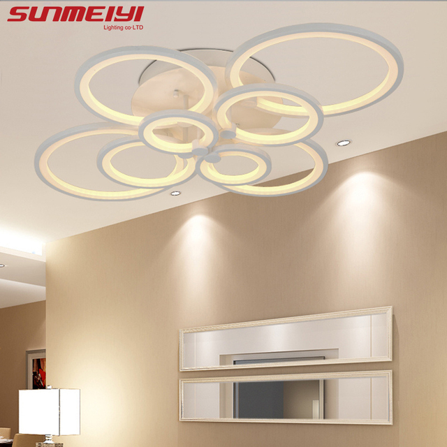 2017 Surface Mounted Modern Led Ceiling Lights For Living Room Light Fixture Indoor Lighting Home Decorative Lampshade