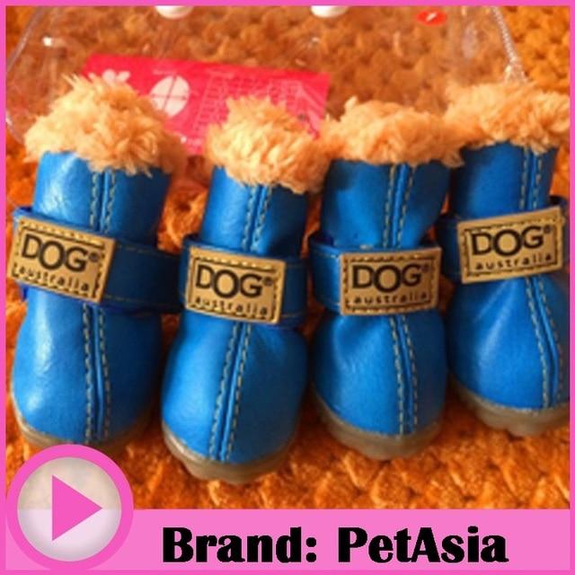 PETASIA Pet Dog Shoes Winter 4pcs/set Small Medium Dog's Boots Cotton Waterproof Anti Slip XS XL Shoes for Pet Product ChiHuaHua