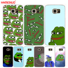 HAMEINUO Internet Meme Smug Frog Pepe cell phone case cover for Samsung Galaxy S7 edge PLUS S8 S6 S5 S4 S3 MINI(China)