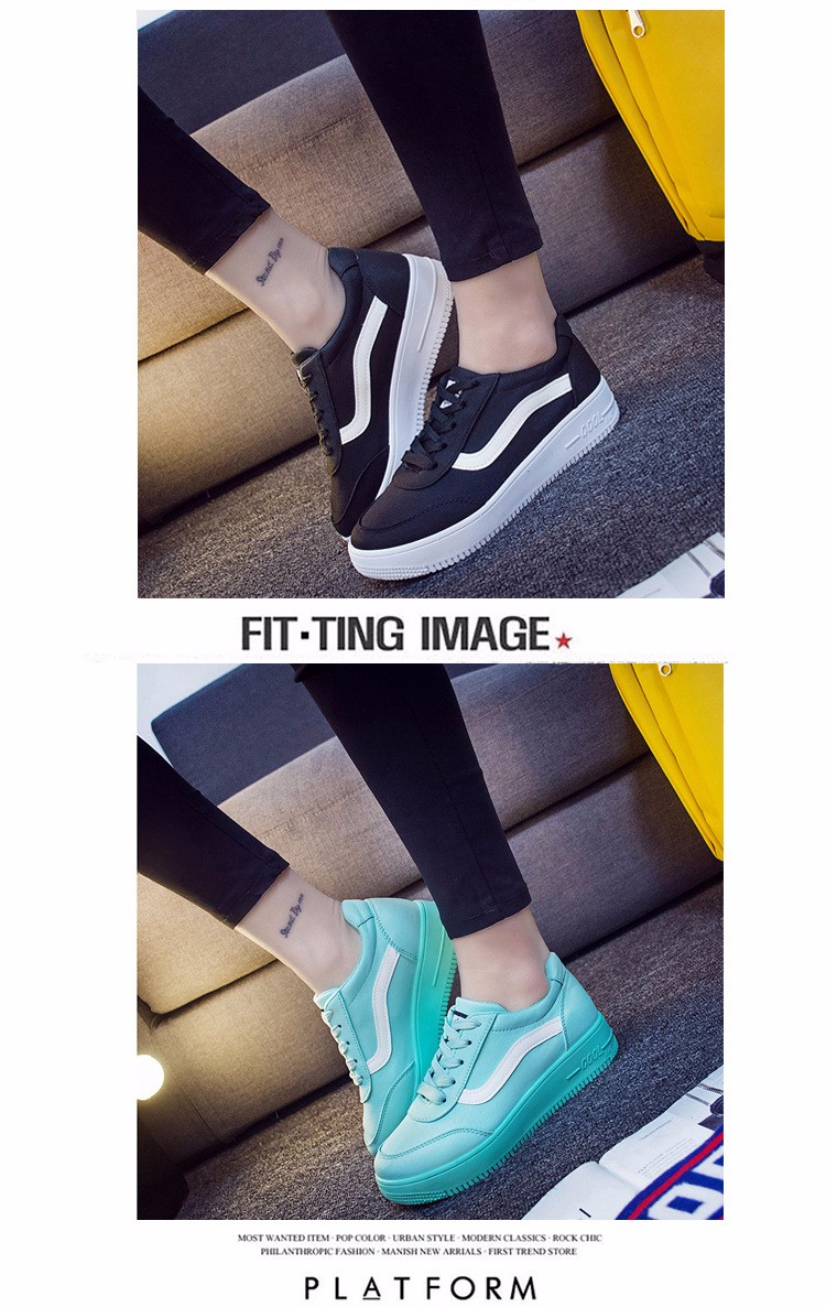Free Shipping 2016 New Fashion Women Casual Shoes Comfortable Lace-up Woman Flats Classic Round Toe Sports Shoes ST427 (7)