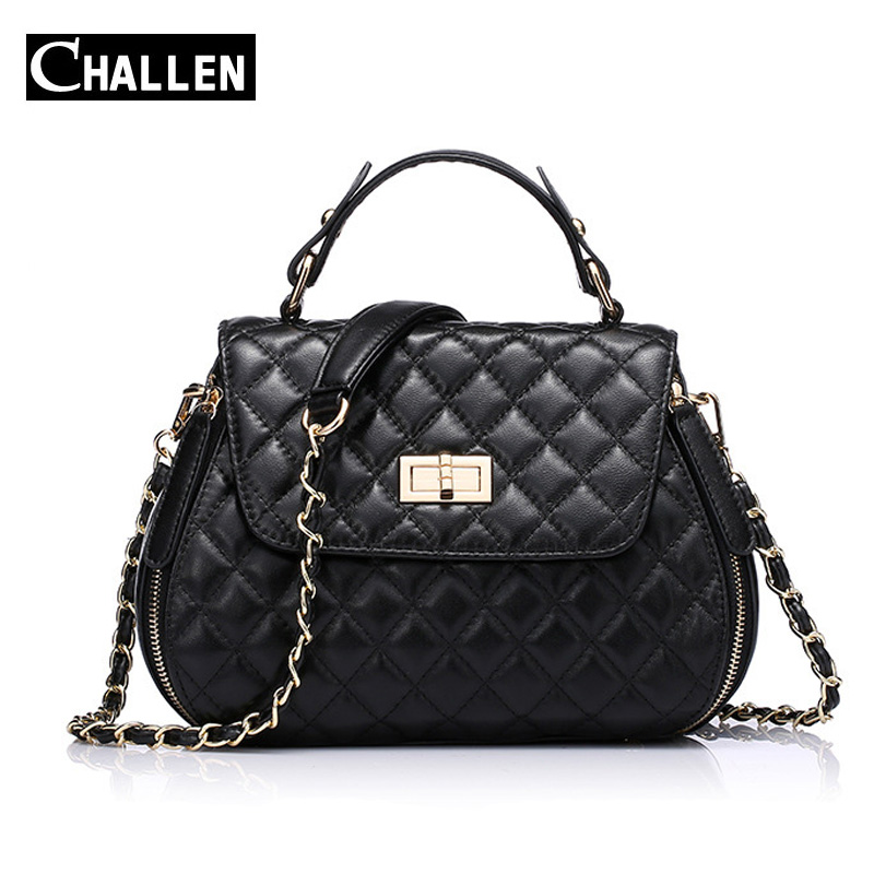 Famous Brand Sheepskin Chain Quilted Bag Women's Genuine Leather Handbags Luxury Shoulder Messenger Women Bags Female Crossbody