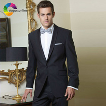 Tuxedos Black Business Men Suits For Wedding Costume Blazer Custom Made Slim Fit Formal Best Man Prom Terno Masculino 2 Pieces