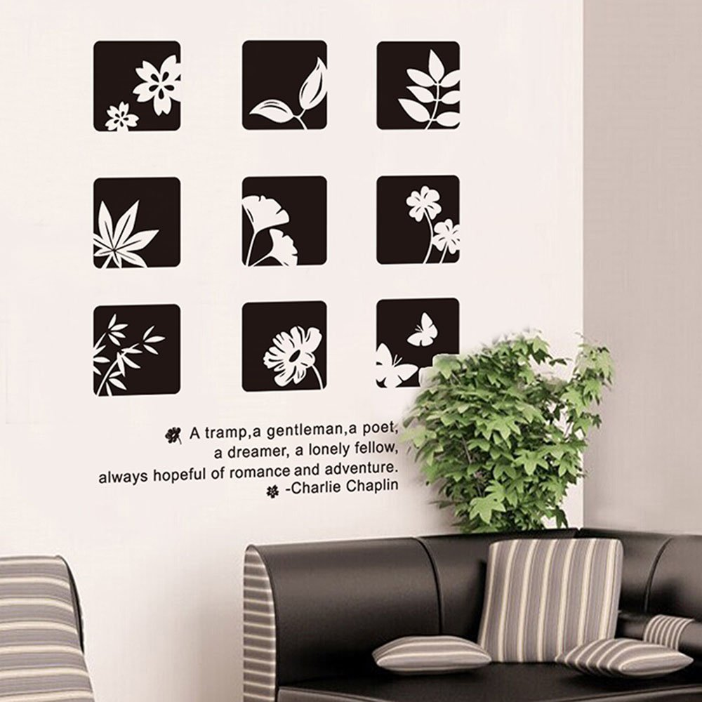 SDFC Removable Wall Stickers Art Decals Wallpapers Living Room ...