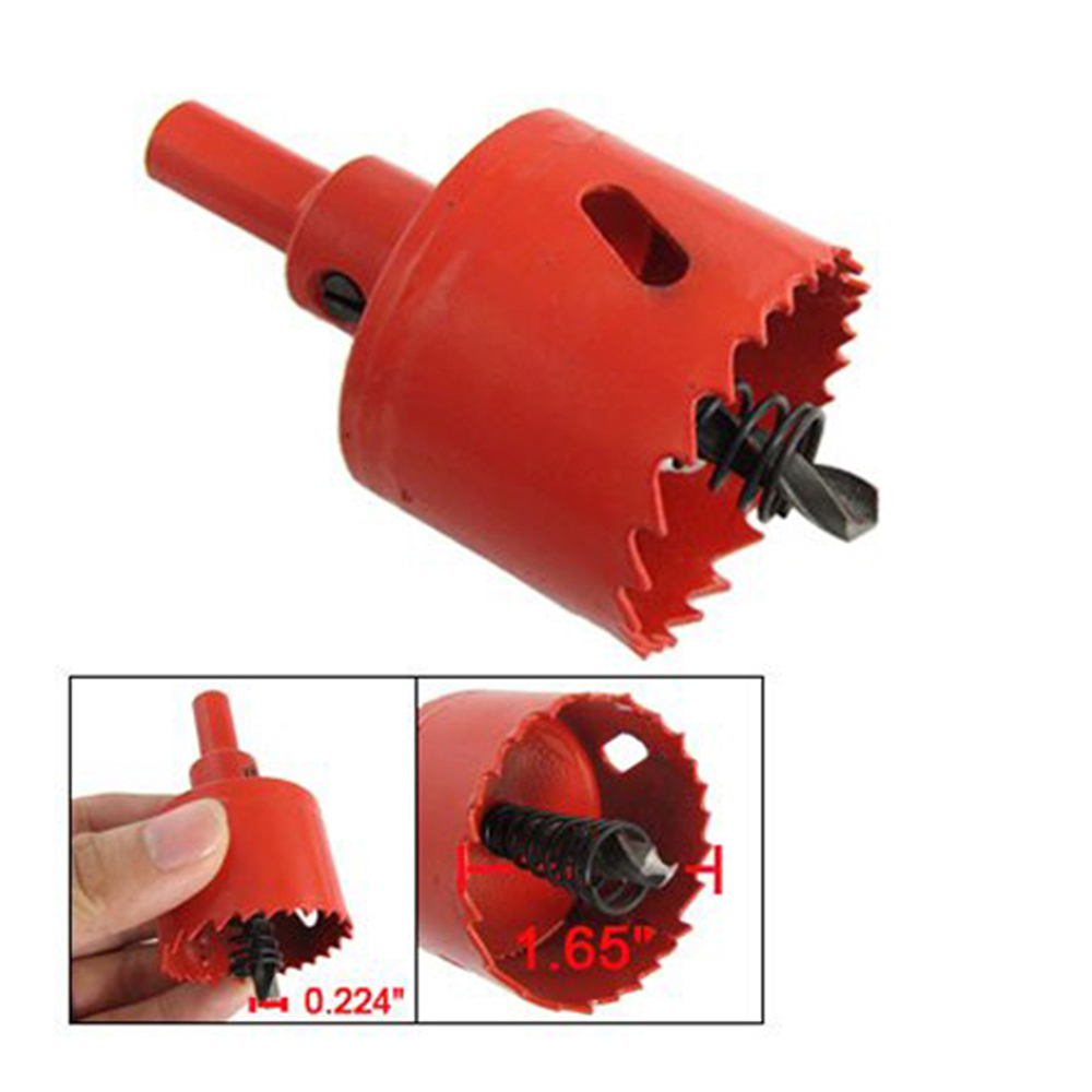 AlumInum Alloy Iron Cutter 42mm Diameter Hole Saw Tool A Spring Wraps Twist Drill Bit Hole Saw Drilling Wood Iron Holesaw Tools