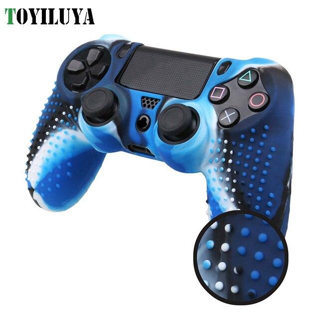Studded Anti-Slip Rubber Gel Protetor de Silicone Caso Aperto Cobrir A Pele Para Sony Playstation 4 PS4 Controladores Sem Fio fino pro