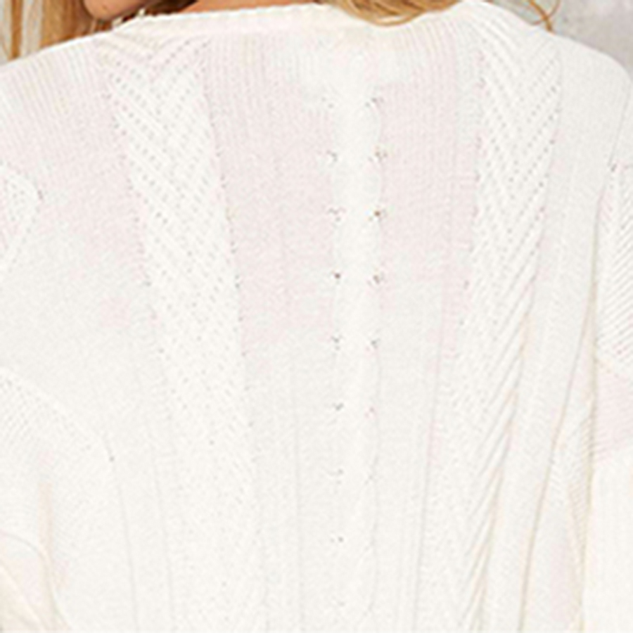 White Women Sweaters And Pullovers Ruffled Batwing Cute Cotton ...
