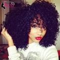 Yvonne brasileiro kinky curly virgem cabelo 2 pc tissage bresilienne encaracolado kinky onda cabelo humano virgem brasileiro do cabelo weave bundles