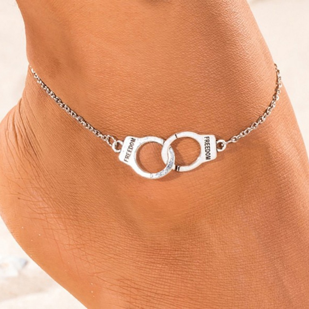 ChainsHouse Resizable Anklet Chain for Women Girls Summer Beach Barefoot Jewelry 18K Gold Plated Stainless Steel Figaro//Wheat//Twist Rope//Cuban Chain Anklet Foot Bracelet Send Gift Box