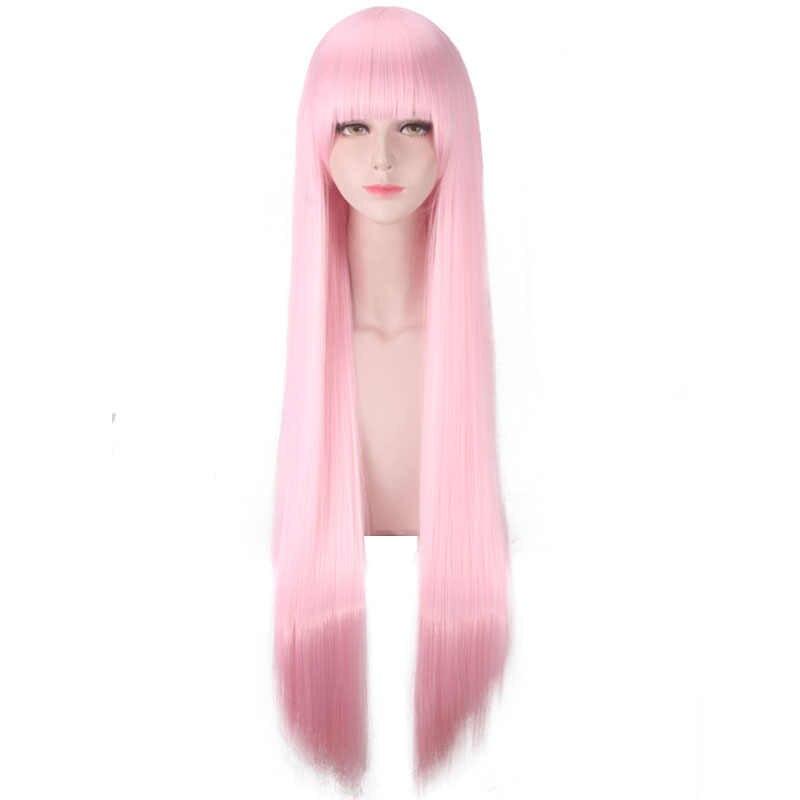 Darling in the Franxx 02 Zero dos peluca Cosplay código 002 mujeres largo de pelo sintético Rosa Halloween fiesta de rol pelucas