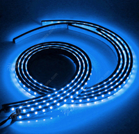 1set Colors RGB 5050 SMD LED Strip Under Car Tube Underglow Underbody System Neon Chassis Light