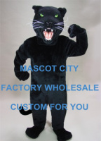 Power Big Black Cat Panther Mascot Costume Adult Size Wild Animal Theme Games Party Carnival Mascotte Mascotta fit SW1069