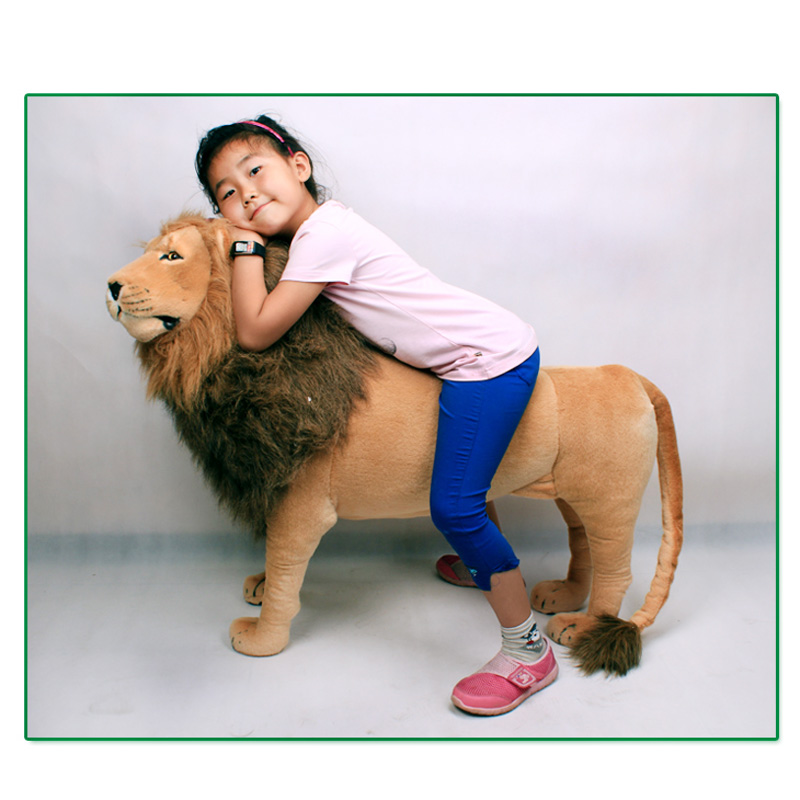 Large size Lion stuffed animal 85*110CM  plush puppy Doll can Stand 90kg similate pillow cushion decoration  for birthday gift stuffed animal 44 cm plush standing cow toy simulation dairy cattle doll great gift w501
