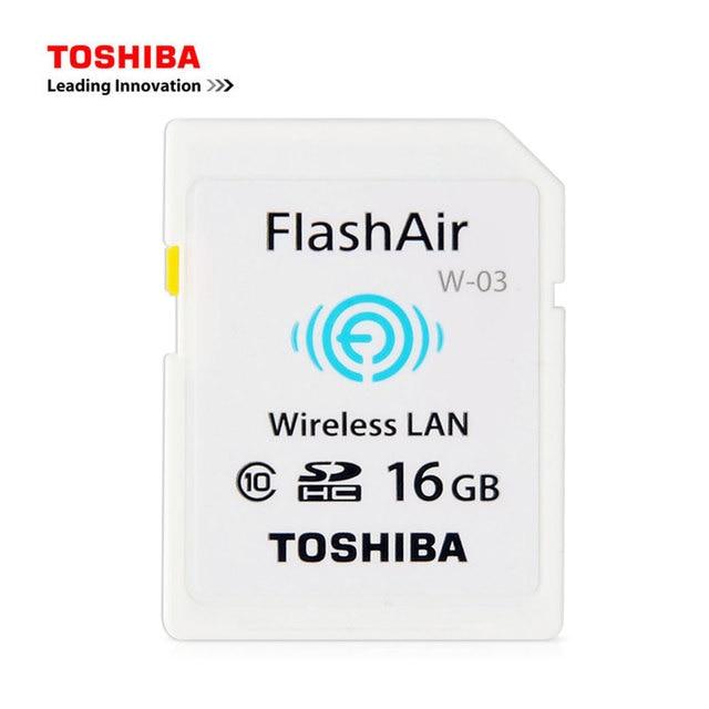 TOSHIBA FlashAir W-03 WIFI SD Card 16G 32G Class10 Flash Memory SD Card WIFI Download Photo Video TO Phone For CANON NIKON etc