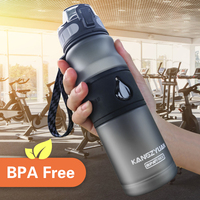 Бутылка для воды Гурд BPA бесплатно Пластик Прямая Насколько 530 мл напиток школьная бутылка для воды шейкер бутылка Гурд En пластики Спорт