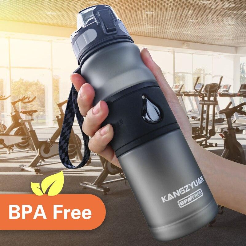 Bouteille d'eau Gourde sans BPA En Plastique Direct boire 530 ML boisson école bouteilles d'eau Shaker bouteille Gourde En Plastique Sport