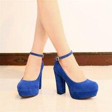 ปั๊มMatteใหม่33 40 41 42ผู้หญิงรองเท้าขนาดใหญ่หลาขนาดเล็ก6สีรองเท้าส้นสูง11เซนติเมตรแพลตฟอร์ม3.5เซนติเมตรEURขนาด32-43