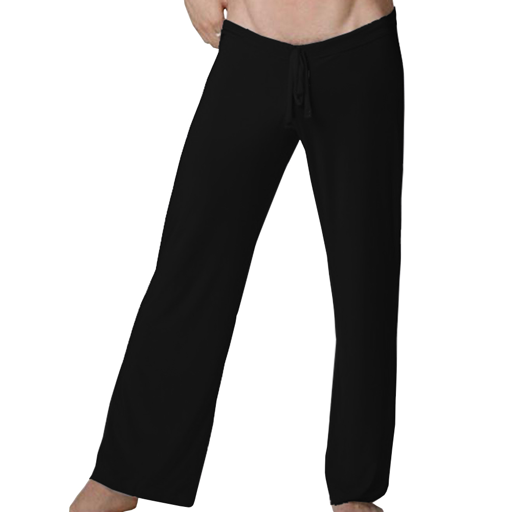 Giraffita Smooth Loose Low Waist Sleep Bottoms Famous Brand For Sexy Mens Home Long Pants Plus Large Size 2XL