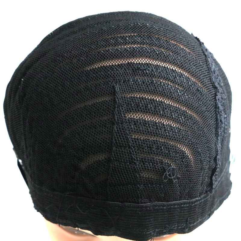 Envío Gratis 15 piezas negro Crochet trenzada peluca Cap elástico cosido Domo red peluca tapas para hacer pelucas de trenzado y tejido pelucas
