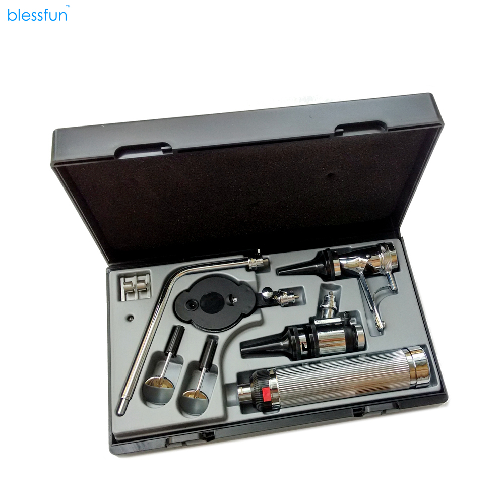 Blessfun Multi-purpose Set Kit médical professionnel de diagnostic médical Kit ORL pour soins auditifs directs Ophoscope Ophtalmoscope Dispositif de diagnostic
