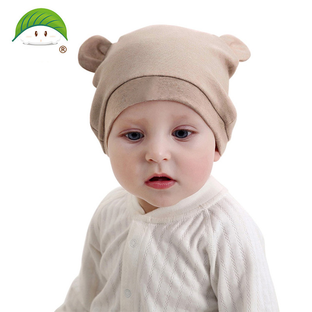 popom brand baby hat 1-12months baby beanies boy girl ears hat cute baby cap  striped baby hats fb3226efd7c