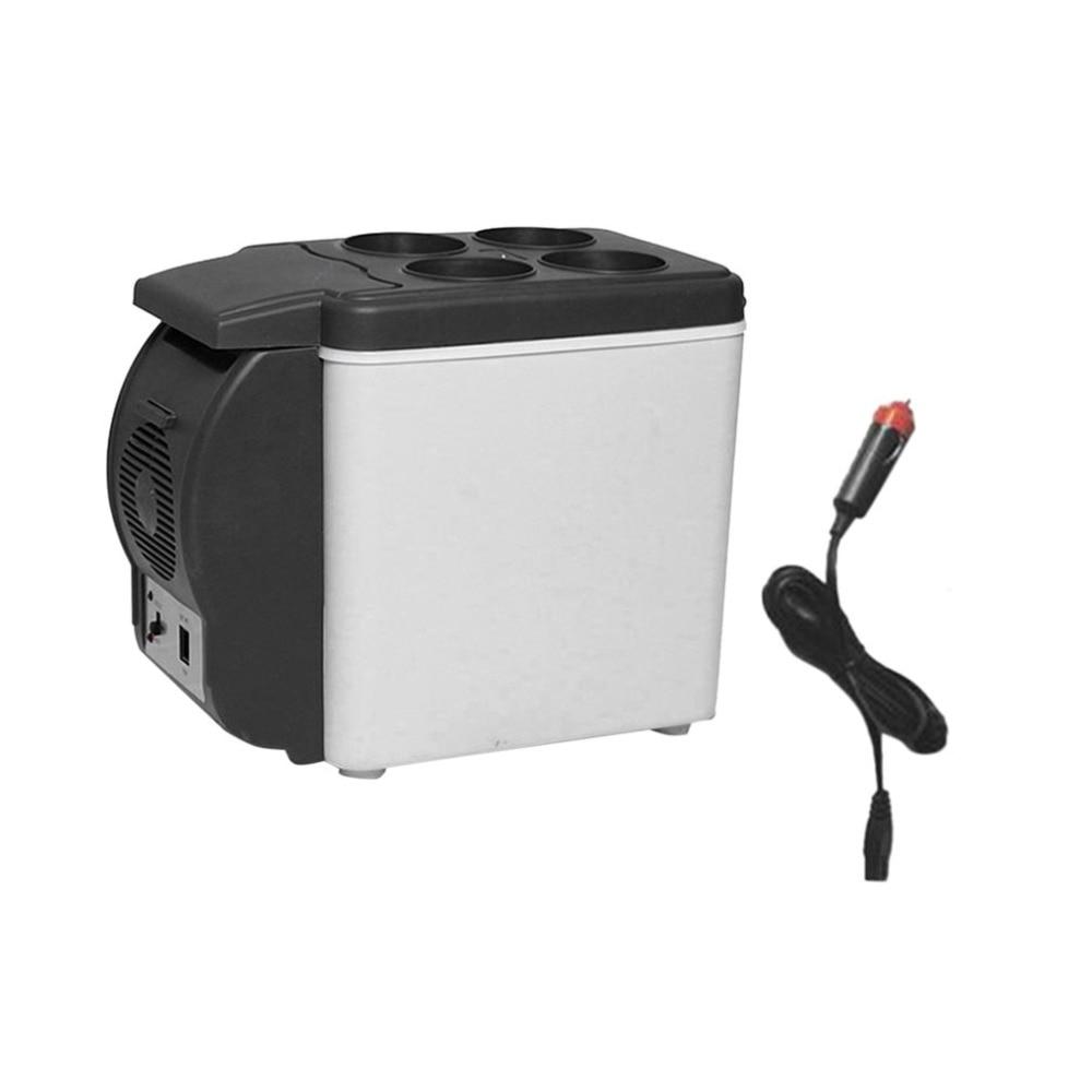 Portable Size Multifunctional 6L 12V Car Fridge Outdoor Travel Refrigerator Automobile Cooler Freezer Icebox Cooler цена