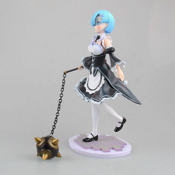 NEW hot 21cm Meteor hammer Life in a different world from zero Rem Action figure toys collection doll
