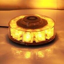 10LED Âmbar luzes de Advertência do Carro Strobe Piscando Farol Laranja Traço Do Telhado Piscando Farol Luz De Aviso De Emergência