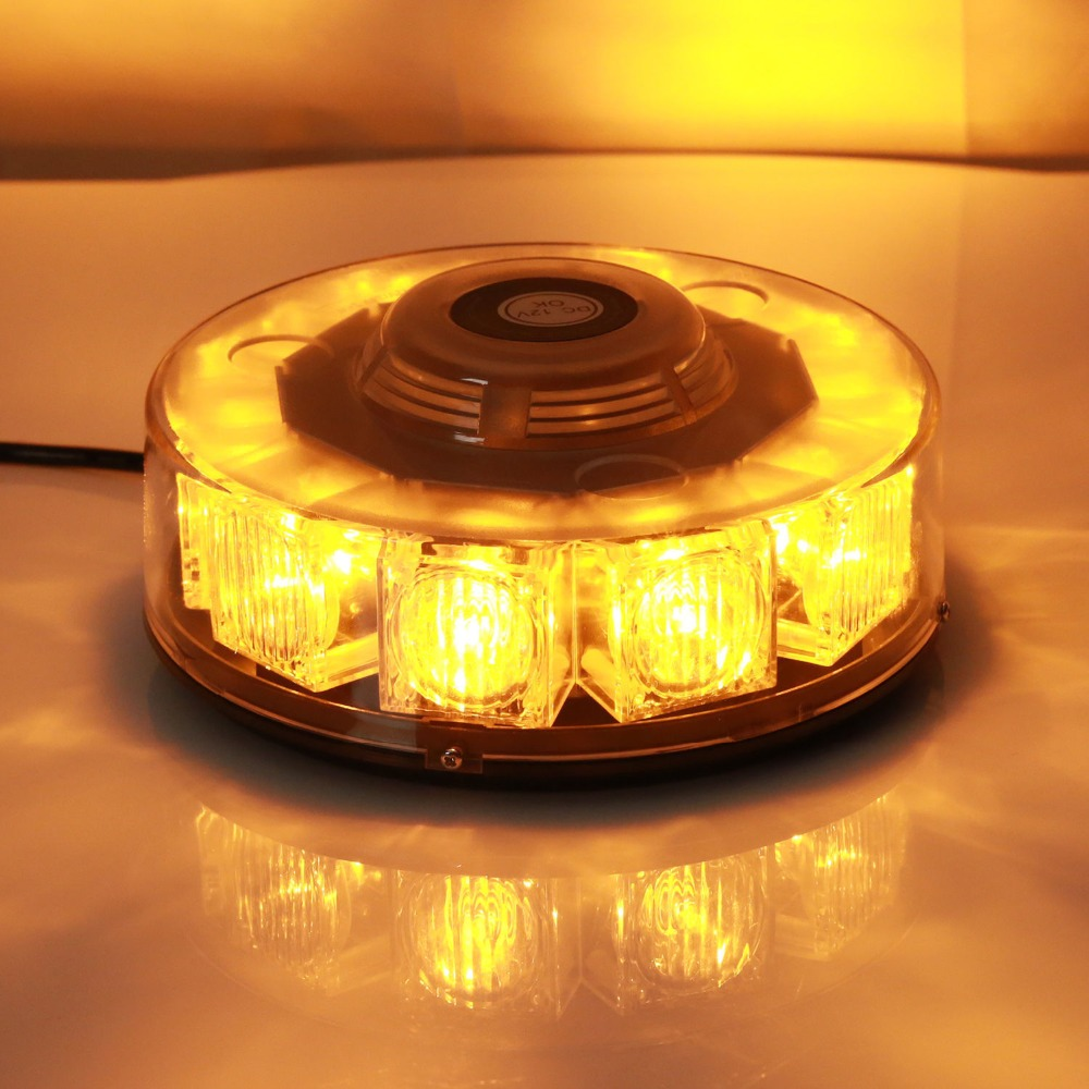 10LED Amber Car Strobe Flashing Beacon Orange Warning lights Roof Dash Beacon Flashing Emergency Warning Lamp
