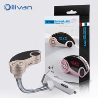 OLLIVAN USB Car Charger Wireless Handsfree Car Fm Transmitter Bluetooth Launcher C Mp3 Fast Charger For