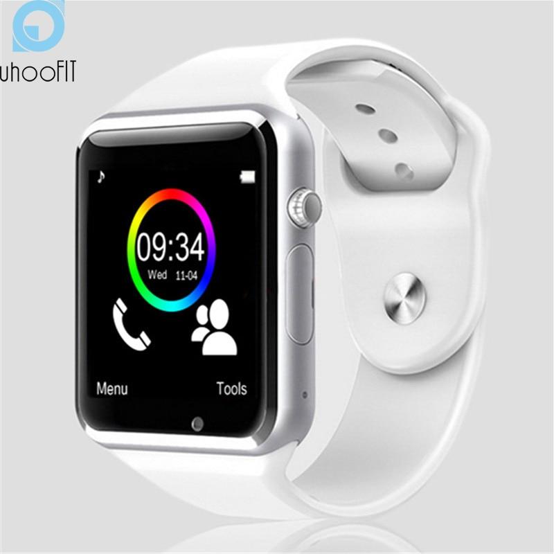 Niño inteligente Bluetooth reloj de los hombres con cámara Whatsapp Facebook Twitter sincronización SMS Smartwatch soporte tarjeta SIM TF para Android PK A1