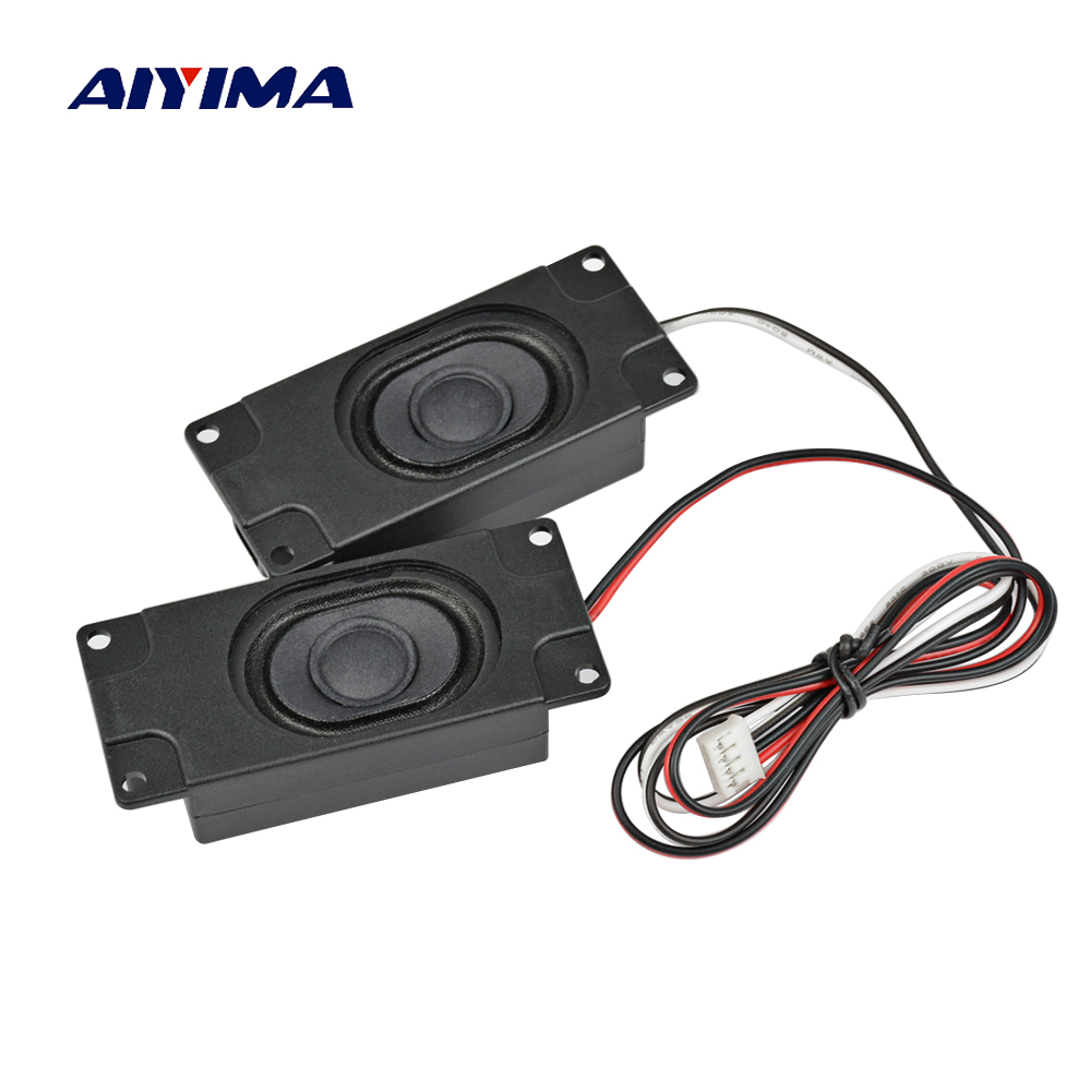 AIYIMA 2Pcs Difuzoare audio portabile 3070 4Ohm 3W Publicitate difuzor de televiziune LCD TV Boxe Difuzor Rectangle Speaker
