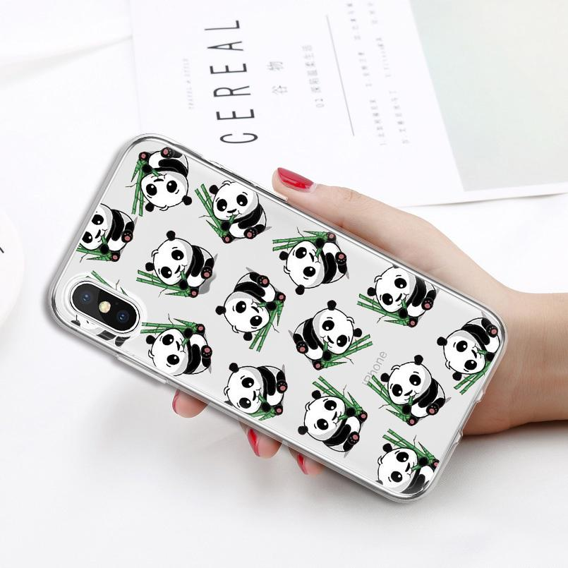 3D Lovely Mini Panda Transparent Soft TPU <font><b>Phone</b></font> <font><b>Case</b></font> For Asus Zenfone 3 Max ZC520 TL ZE500KL KG <font><b>Lenovo</b></font> <font><b>A2010</b></font> A6000 K5 A536 <font><b>Case</b></font> image