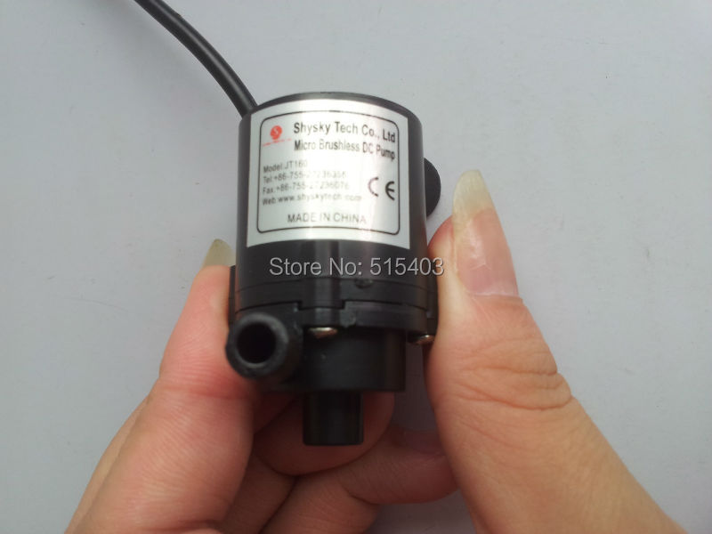 Mini 6V-12V DC Brushless Small Water Pump Submersible Motor Pump 1.8M 230L/H Free shipping