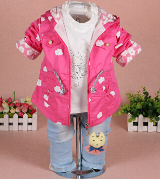 clearance new 2015 spring lace patchwork baby girl clothing set 3pcs girls jeans suit set children clothes girls clothing  2015 summer brand baby boy set children three piece suit set 3pcs girls new cotton spring casual clothing child year suit 3 pcs