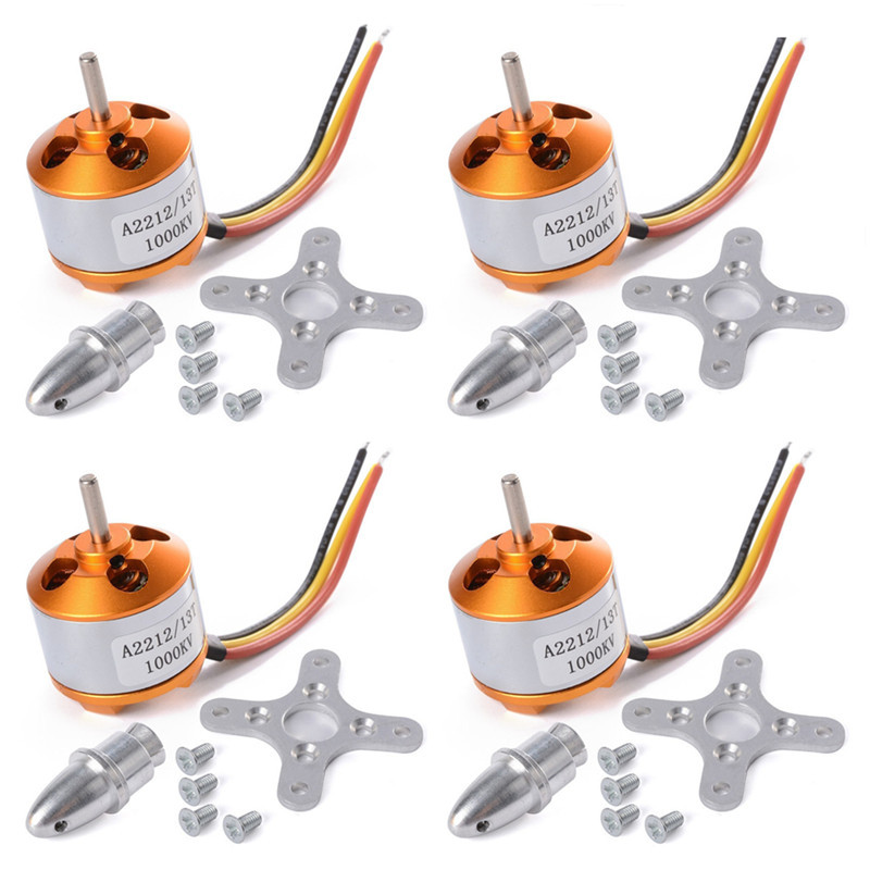 4pcs/Lot XXD A2212 <font><b>1000KV</b></font> Brushless <font><b>Motors</b></font> +holders for RC Aircraft Four Axis Multicopter Quadcopter Parts image