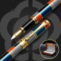 High Quality Iraurita Fountain pen 0.5mm Full Metal Golden Clip luxury pens Caneta Stationery Office school supplies GB46