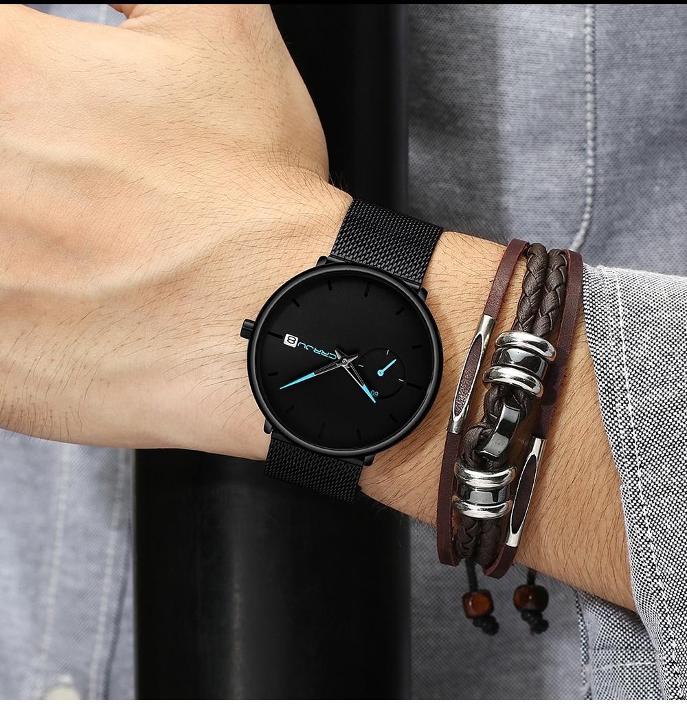 Crrju Sports Date Mens Watches Top Brand Luxury Waterproof Sport Watch Men Ultra Thin Dial Quartz Watch Casual Relogio Masculino 6