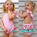 2017 Newborn Baby Girl Floral Romper Summer Ruffles Sleeve Clothes Backless Halter Sunsuit Toddler Kids Jumpsuit Outfits