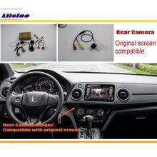 цена на For Honda HRV H-RV / XRV X-RV / Vezel 2013~2015 RCA & Original Screen Compatible Rear View Camera / Back Up Reverse Camera Sets