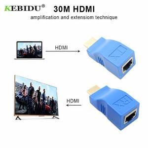Image 4 - كابل كيبيدو HDMI موسع 4k منافذ RJ45 شبكة LAN تمديد HDMI يصل إلى 30 متر أكثر من CAT5e/6 UTP LAN إيثرنت للتلفزيون عالي الوضوح HDPC