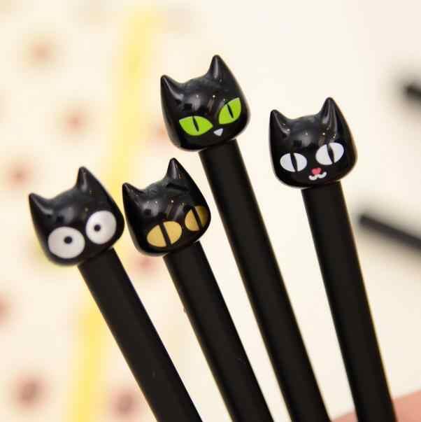 1 pièces/lot le chat noir design stylo Gel doux mignon chat encre stylos Kawaii papeterie Canetas matériel de bureau fournitures scolaires