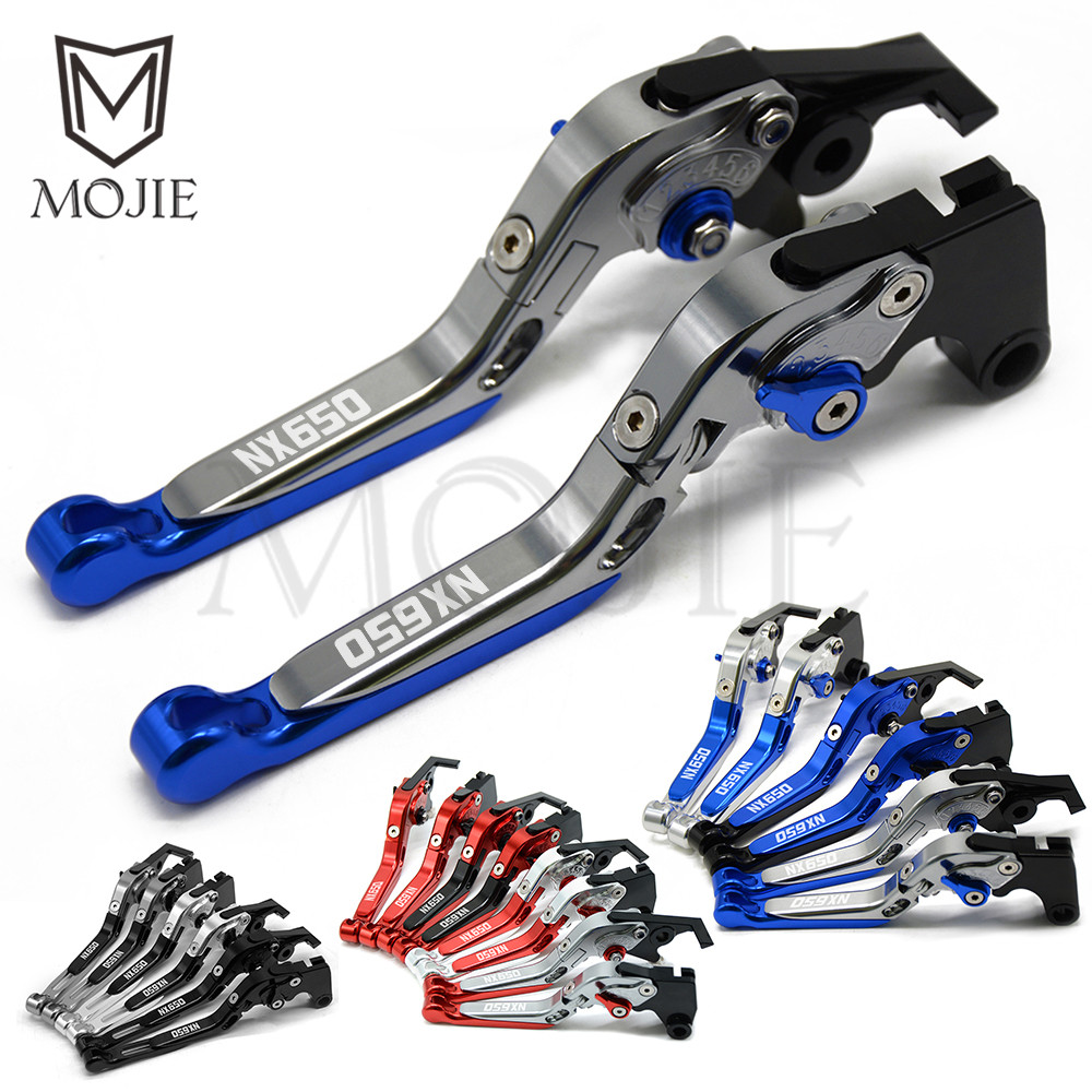 For Honda Dominator NX650 J X Dominator 1988 1999 Motorcycle Adjustable Accessories Extendable Brake Clutch Levers