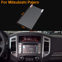 Car Styling 7 Inch GPS Navigation Screen Steel Protective Film For Mitsubishi Pajero Control of LCD Screen Car Sticker