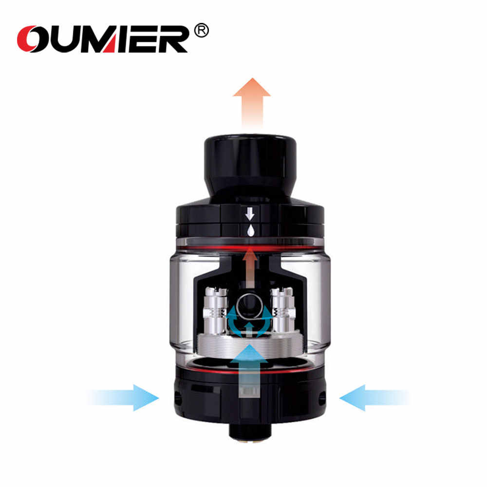 100% Original OUMIER BOMBUS RTA 24.5mm Diameter Atomizer 2ml/3.5ml with Big Deck for Single Coil Building VS OUMIER WASP NANO