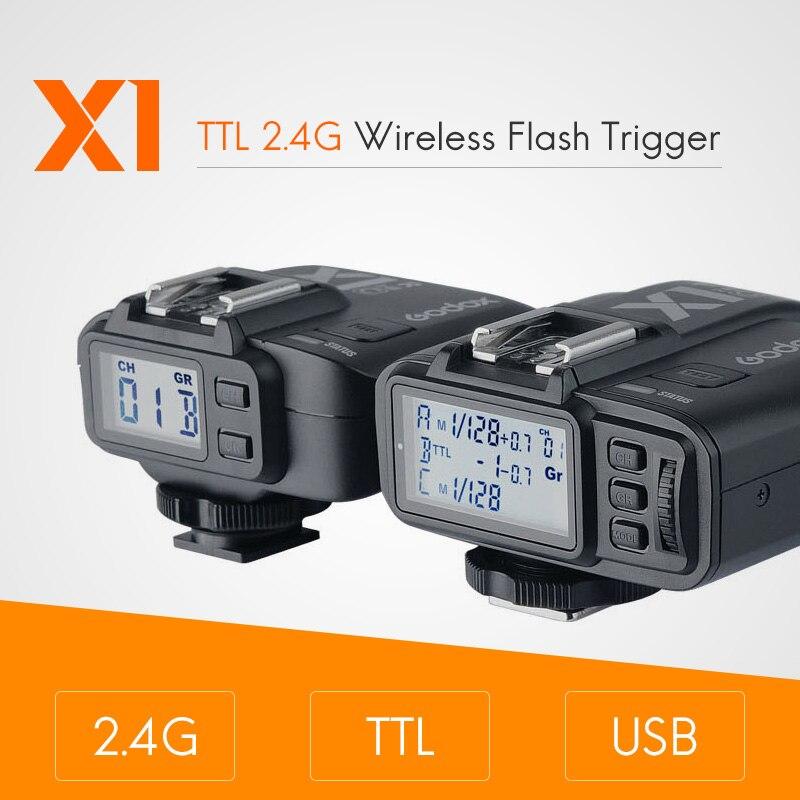Godox X1 комплект ttl 2,4G Беспроводной вспышки триггера передатчик и ресивер для Canon для Nikon для sony godoxTT685 V860 Вспышка speedlite